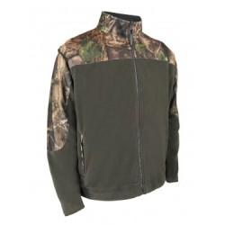 Polar Fleece Jacket w/Camo Shoulders