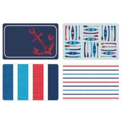 Printed Placemats - Boathouse ~ 4 assorted