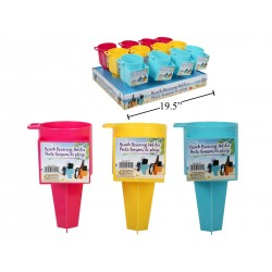 Plastic Beach Beverage Holder with Compartment