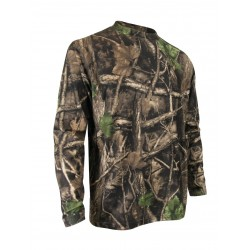 Camo Long Sleeves Brushed Polyester T-Shirt