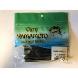 "Gary Yamamoto 4"" YamaSenko ~ Watermelon w/Black & Red Flake"