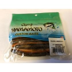"Gary Yamamoto 4"" YamaSenko ~ Watermelon & Copper/Orange w/Red Flakes"