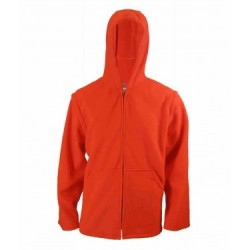 Fl. Orange Polar Fleece Jacket w/Hood