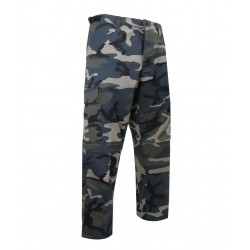Unlined Camouflage Pants ~ Blue Camo