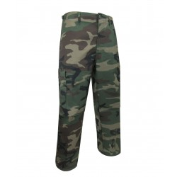 Unlined Camouflage Pants ~ Green Camo