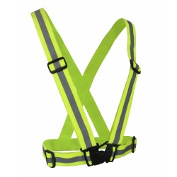 Fluorescent Yellow Elastic Safety Harness