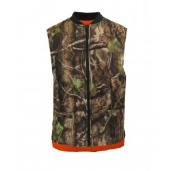 Reversible Fleece Lined Vest ~ Camo / Fl. Orange
