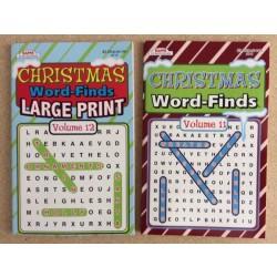 Christmas Word Finds ~ 2 asst