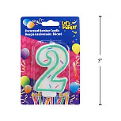 "Birthday Candle ~ Double Sided Number ""2"""