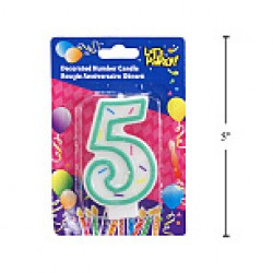 "Birthday Candle ~ Double Sided Number ""5"""