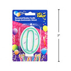 "Birthday Candle ~ Double Sided Number ""0"""