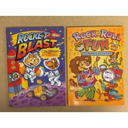 Rock & Roll Fun / Rocket Blast Coloring Book