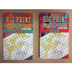 Word Find Books ~ Big Print - Digest Size