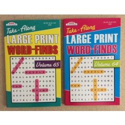 Word Find Books ~ Large Print - Digest Size