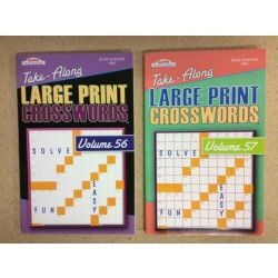 Crossword Books -Take-Along Large Print ~ Digest Size