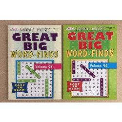 Word Find Books ~ Large Print