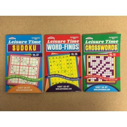 Word Find / Crossword / Suduko Puzzle Books ~ Digest Size