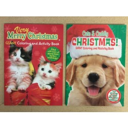 Christmas Cute & Cuddly Coloring Books ~ 2 asst