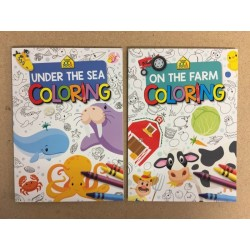 On The Farm / Under The Sea Coloring Book