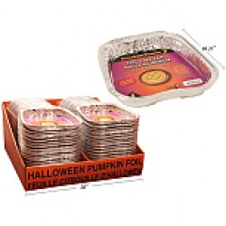 Foil Pumpkin Shaped Cake Pan w/Lid
