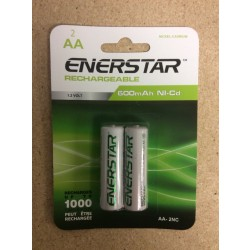 "EnerStar ""AA"" Rechargeable Ni-cd Batteries ~ 2/pk"