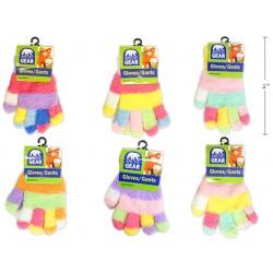 Kid's Multi-Colored Cozy Magic Gloves