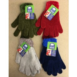 Ladies Chenille Insulated Glove with Furry Cuff