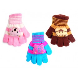 Children's 2-Tone Magic Gloves with 3-D Character