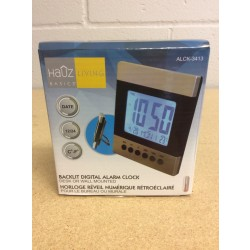 Flat Digital Alarm Clock w/Stand