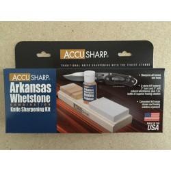 Accu Sharp Arkansas Wheat Stone Combination Knife Sharpening Kit