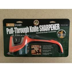 Accu Sharp Pull-Through Knife Sharpener ~ Blaze Orange