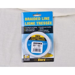 Black Braided Line 20lb ~ 50 yard spool