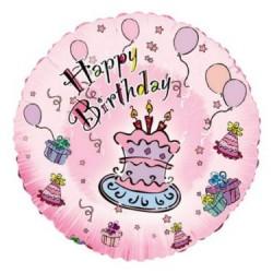 "18"" Helium Balloons - HAPPY BIRTHDAY ~ 1 per pack"