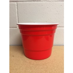 "9.75"" Red Beer Cup Ice Bucket"