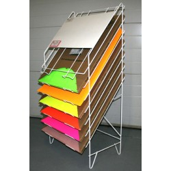 Bristol Board Wire Display Rack ~ WITH 10 BOXES OF BRISTOL BOARD INCLUDED!!