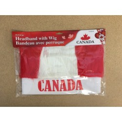 "Canada Headband w/Wig ~ 10.5"""