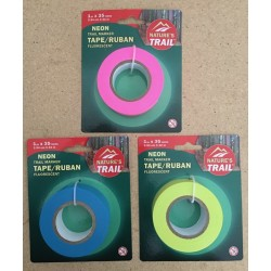 Trail Marker Tape ~ Glow Pink / Yellow / Blue - Packaged