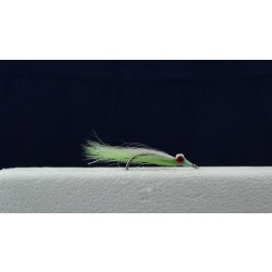 Clouser Minnow Flies - Size 2 ~ Chartreuse / White