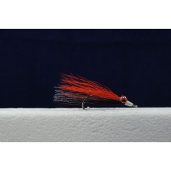 Clouser Minnow Flies - Size 2 ~ Orange / Black