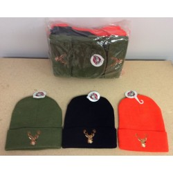 Thinsulate Lined Toque w/Embroidered Deer ~ COMBO PACKAGE