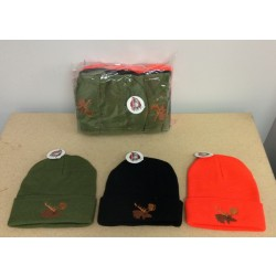 Thinsulate Lined Toque w/Embroidered Moose ~ COMBO PACKAGE
