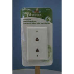 Telephone Jack Wall Plate ~ Double