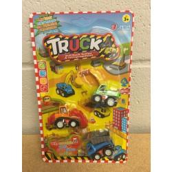 Pull Back Trucks ~ 3 per pack