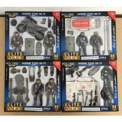 Police Action Figure Play Set ~ 4 assorted