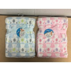 Baby Embossed Fleece Blanket ~ 2 assorted