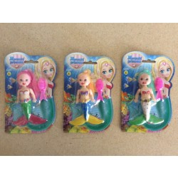 "Mermaid w/Accessories - 3.5"" ~ 3 assorted"