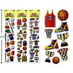 Woody's Micro Stickers ~ Ball Games