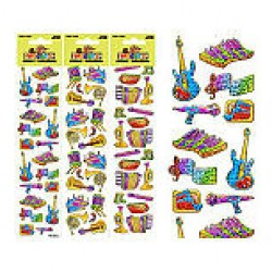 Woody's Micro Stickers ~ Musical Instruments