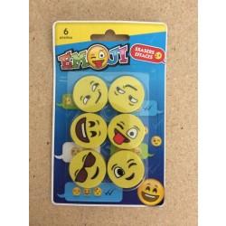 Emoji Erasers ~ 6 per pack