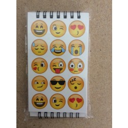 "Emoji Design Notebooks - 3"" x 5"" ~ 4 per pack"